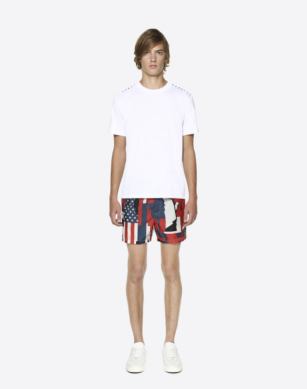 Camou Cities printed swimming shorts