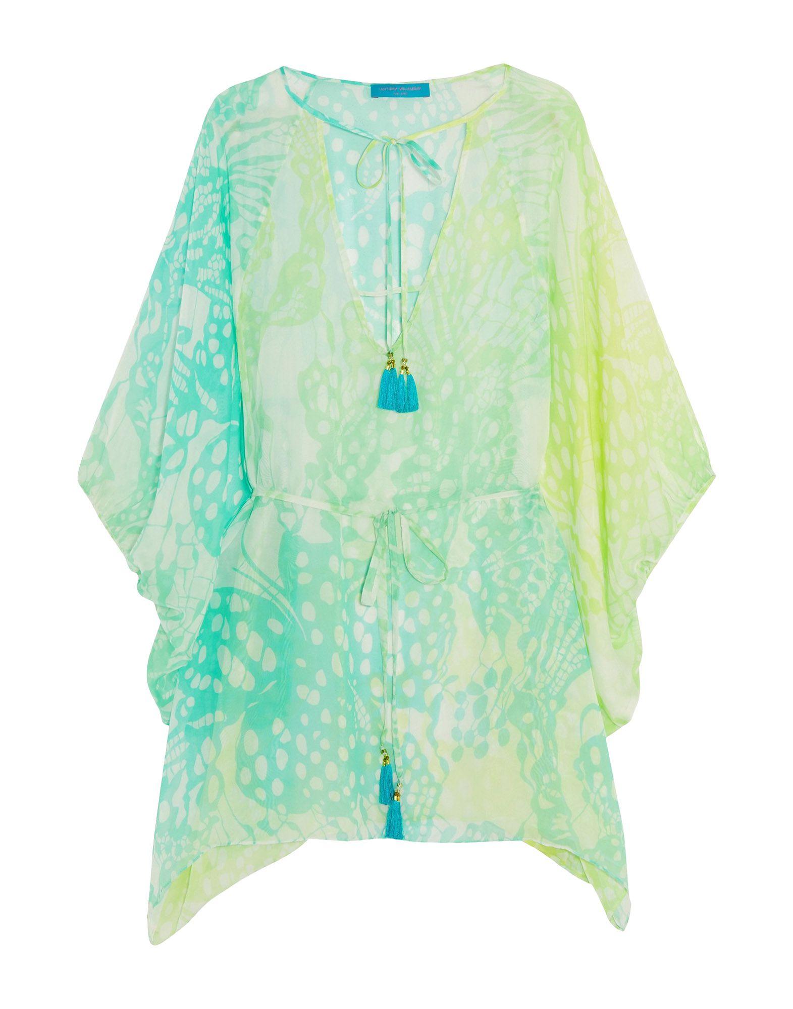 MATTHEW WILLIAMSON Пляжное платье белый барс печати шифон цветочные пряжи microvent ручной платье нитями ткани