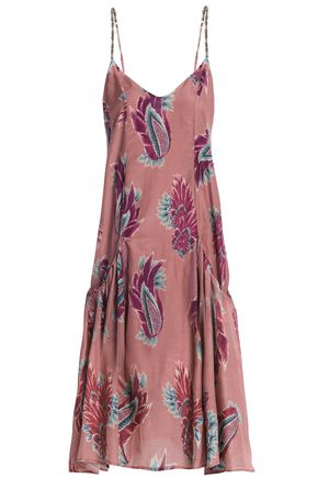VIX PAULA HERMANNY Printed cotton and silk-blend dress