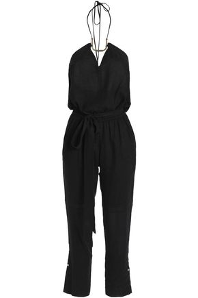 VIX PAULA HERMANNY Linen-blend jumpsuit