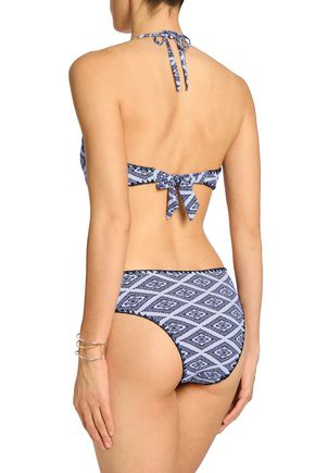 TART COLLECTIONS Maya cutout printed halterneck swimsuit