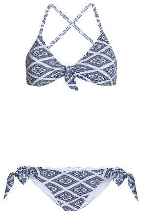 TART COLLECTIONS Knotted floral-print bikini