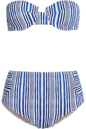 TART COLLECTIONS Aubrie striped high-rise bikini