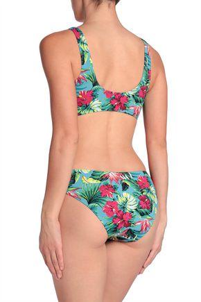 TART COLLECTIONS Owen cutout floral-print swimsuit
