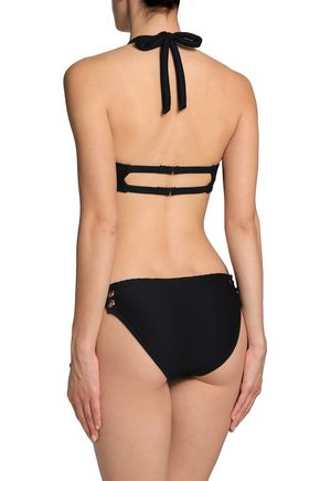 TART COLLECTIONS McKinley lace-up halterneck swimsuit