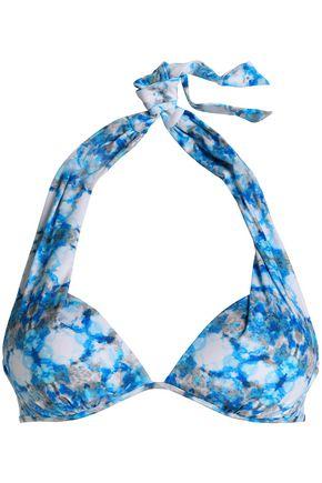HEIDI KLEIN Printed halterneck bikini top