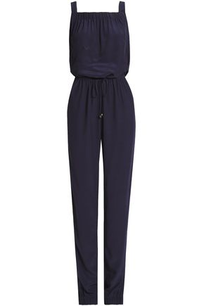 HEIDI KLEIN Gathered crepe de chine jumpsuit