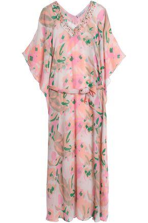 HEIDI KLEIN Embellished printed silk kaftan