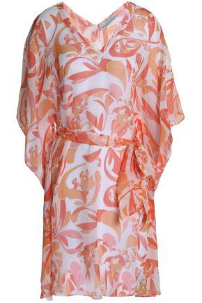 HEIDI KLEIN Belted printed silk kaftan