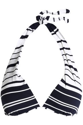 HEIDI KLEIN Striped halterneck bikini top