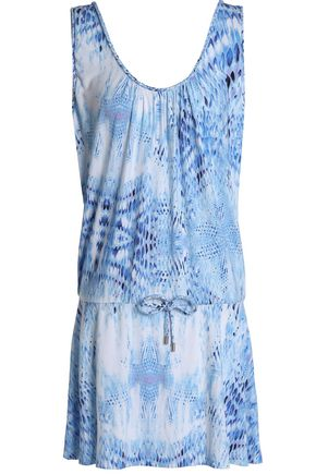 HEIDI KLEIN Printed modal-blend jersey mini dress