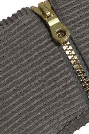 HEIDI KLEIN Zip-detailed bandeau bikini top