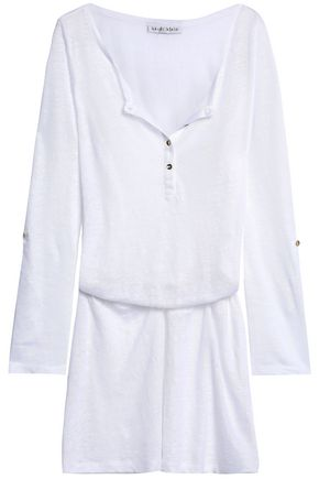 HEIDI KLEIN Gathered slub linen-jersey mini dress