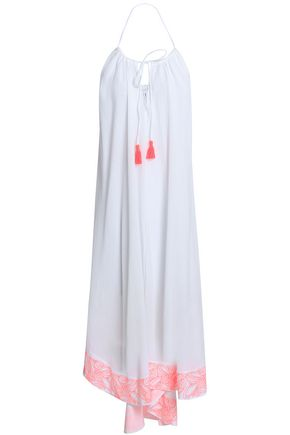 HEIDI KLEIN Embroidered cotton-gauze maxi dress