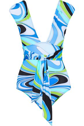 EMILIO PUCCI Knotted printed swimsuit