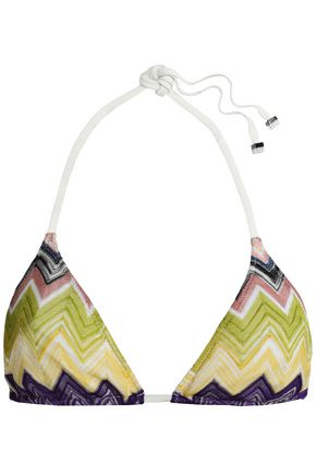 MISSONI MARE Crochet-knit triangle bikini top