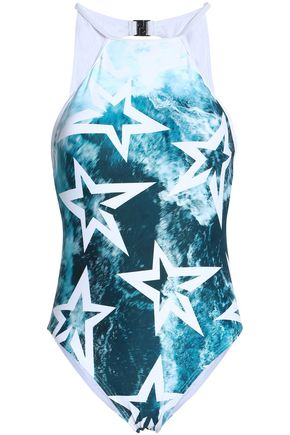 PERFECT MOMENT Cutout printed swimsuit