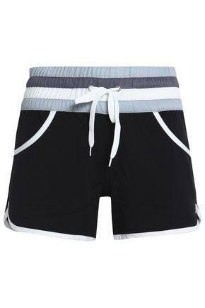 PERFECT MOMENT Striped crepe shorts
