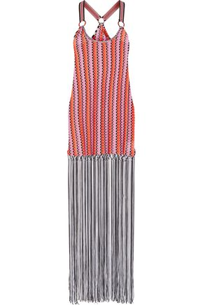 MISSONI MARE Mare fringed crochet-knit maxi dress