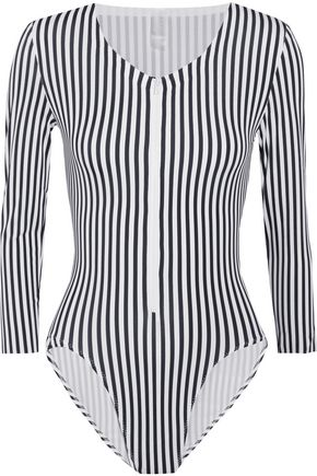 NORMA KAMALI Striped swimsuit