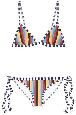 RYE Lollipop striped triangle bikini
