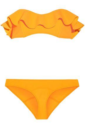 LISA MARIE FERNANDEZ Natalie Flounce ruffled bandeau bikini