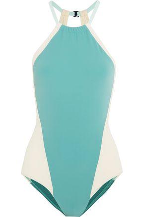 FLAGPOLE Nola color-block halterneck swimsuit