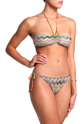 MISSONI MARE Crochet-knit bandeau bikini top