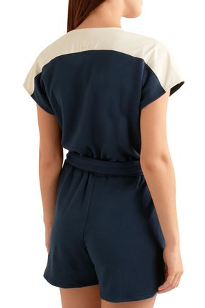 FLAGPOLE Francine jersey-trimmed French terry playsuit