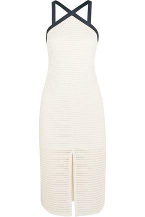 FLAGPOLE Carter mesh-paneled jersey halterneck dress