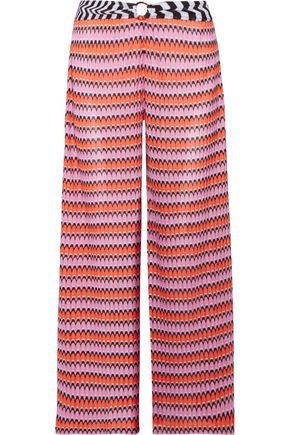 MISSONI MARE Mare cropped crochet-knit wide-leg pants