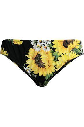 DOLCE & GABBANA Floral-print low-rise bikini briefs