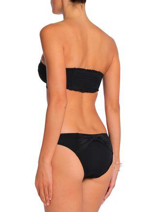 SEAFOLLY Pleated bandeau bikini top