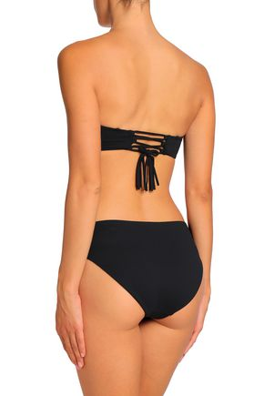 SKIN Lace-up bandeau bikini top