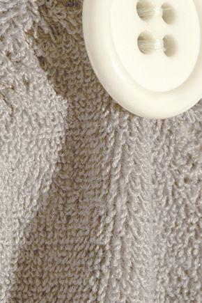 LISA MARIE FERNANDEZ New Button cotton-blend terry bikini