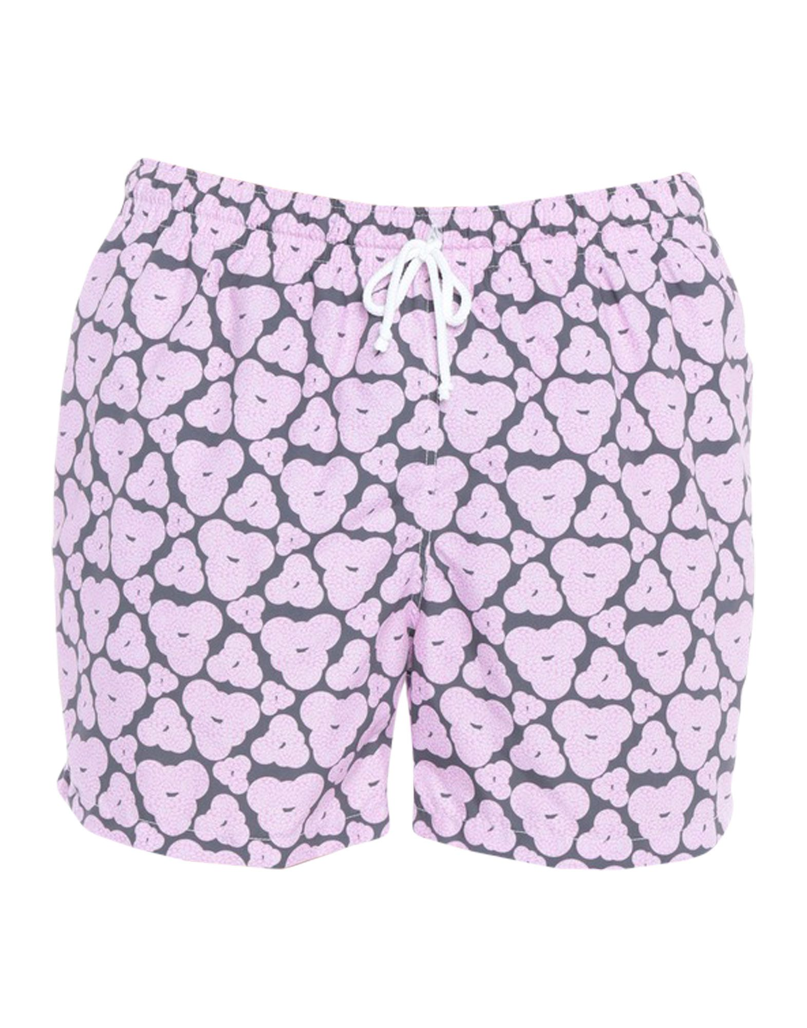 《送料無料》ROBERTO RICETTI メンズ 水着(ボクサーパンツ) ピンク XXL ポリエステル 100%
