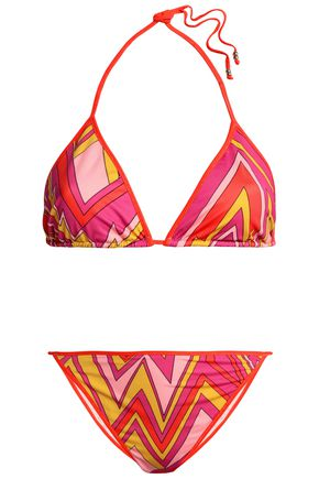 M MISSONI Printed triangle bikini