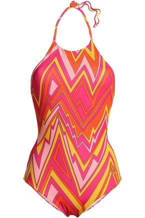 M MISSONI Printed halterneck swimsuit