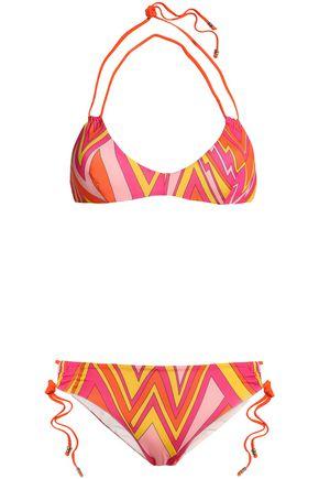 M MISSONI Printed halterneck bikini
