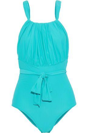 LENNY NIEMEYER Greek tie-front gathered swimsuit