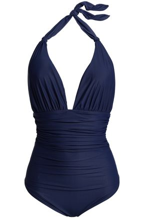 LENNY NIEMEYER Ruched halterneck swimsuit