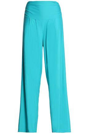 LENNY NIEMEYER Pleated stretch-jersey wide-leg pants