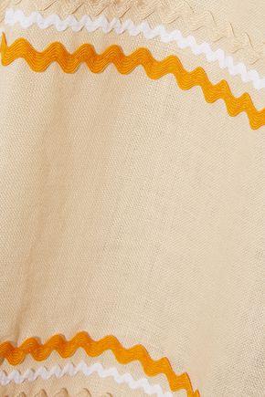 LISA MARIE FERNANDEZ Rickrack-trimmed linen maxi dress