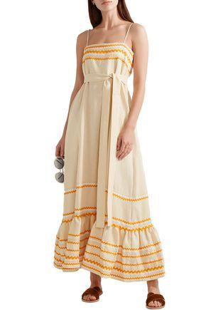 41a66d9c89 LISA MARIE FERNANDEZ Rickrack-trimmed linen maxi dress