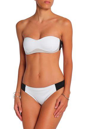 STELLA McCARTNEY Color-block neoprene bandeau bikini top