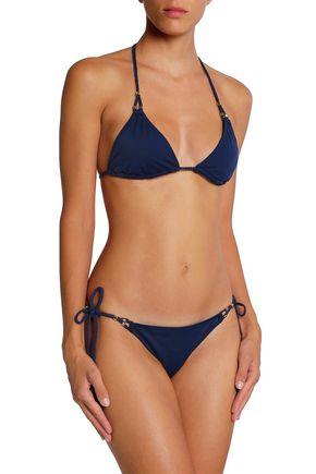 HEIDI KLUM SWIM Embellished triangle bikini top