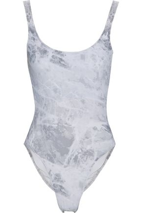 NORMA KAMALI Mio open-back tie-dyed swimsuit