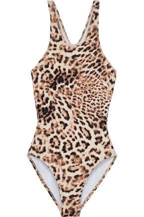 NORMA KAMALI Racer Mio leopard-print swimsuit