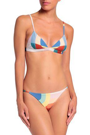 MARA HOFFMAN Printed low-rise bikini briefs