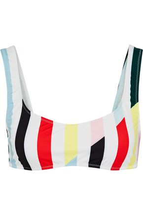 SOLID & STRIPED The Elle striped bikini top